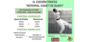 Hui se celebra el XL Memorial Xiquet de Quart